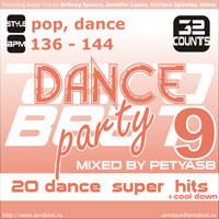 Музыка для аэробики и степ-аэробики Aerobeat Dance Party 9